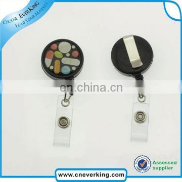 Hot sale cheap retractable badge reel with lighter holder wholesales