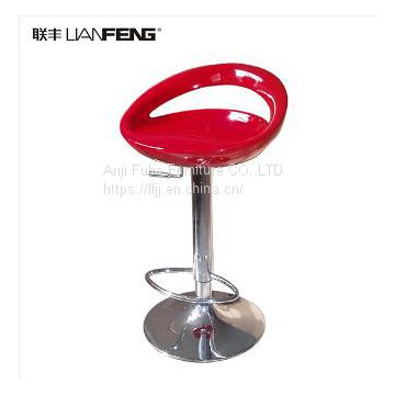 plastic bar chair adjustable height bar stool with footrest