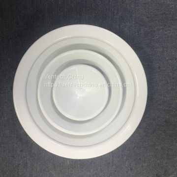 round ceiling diffuser vent with damper hvac ventilation