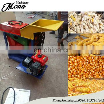 Combine maize corn thresher and peeler machine for tractor engine