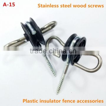 The Durable Extra Heavy Duty Ring Insulator Quickly Screws Into Wood Posts And Tightly Hold Electric Fenci Horse Fencing Rope Fence Electric Fencing For Horses