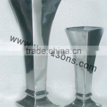 Aluminium Flower Vase In Cast Metal Designer Vase Metal Of Home