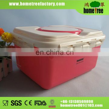 2014 hot sale plastic storage box with lock 7.5L