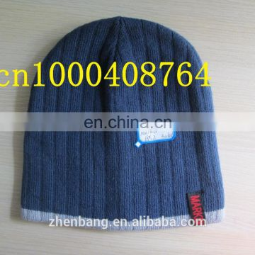 100%acrylic beanie, knitted toque with embroider comfortbale beanie