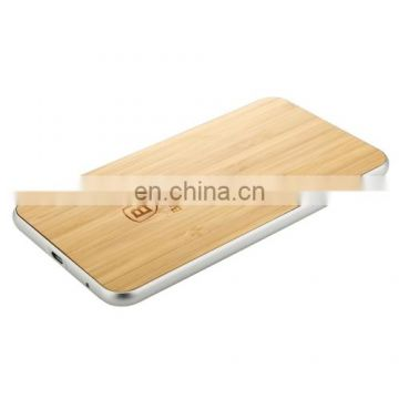 QI Standard Wood Grain Quadrangle Wireless Charger for Smart Phones