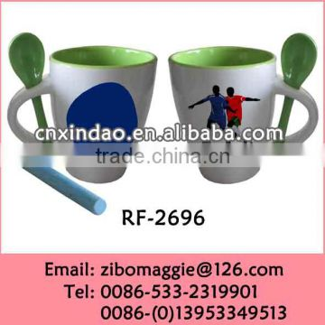 2014 World Cup Promotional Mug for Coffee Mug Spoon in Handle