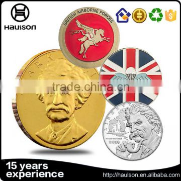 Hot sale free sample customized deisgn round shape milled edge engraving zinc alloy souvenir military copper coins