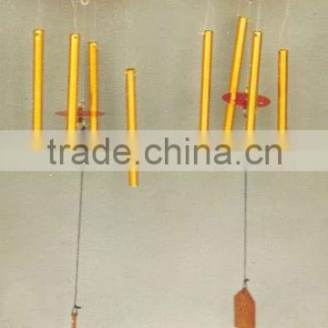 Gold color sunflower aluminum tube hanging wind chime, metal Christmas wind chime, antique wind chime, western wind chime,