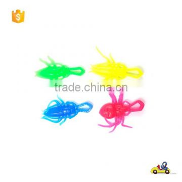 promotion insect sticky kids toys Plastic TPR sticky on wall insects toys/with best price