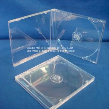 single JEWEL blank cd cases jewel blank cd box jewel blank cd cover 10.4mm single square with clear tray