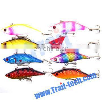 7.5cm Long Assorted Colorful Fishing Tackle Artificial Fishing Bait With Fishhook