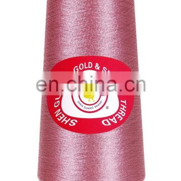 Fluroescent gold metallic embroidery thread in middle east