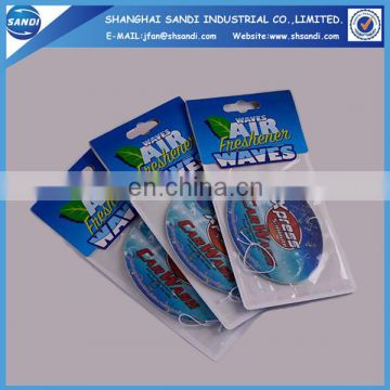 High quanlity advertising custom paper air freshener car
