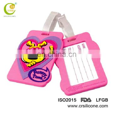 Free samples high quality custom travel accessories silicone name luggage tag