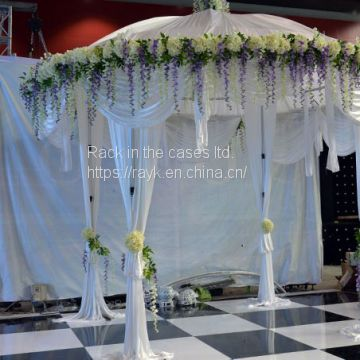 RK wedding pipe and drape chiffon drape with adjustiable height from RK for sale