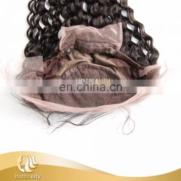 2017 new arrival kinky curly 360 lace frontal hot sell in wholesale price