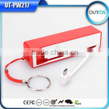 Led Flashlights Power Bank Built in Cable Mobile Battery 2200mah