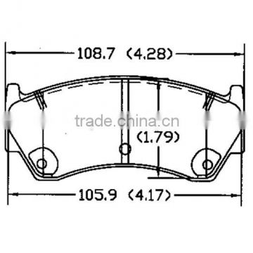 D668 OE41060-0M892 for NISSAN brake pad