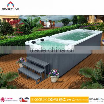 Low price for portable swimming pool with massage swim spa pool