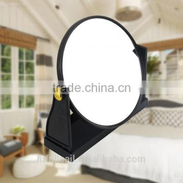 Plastic frame with single siled desk mirror/black square desk mirror