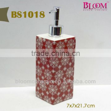 Ceramic red body lotion bottle manufacturers