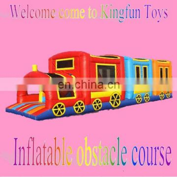 Train Interactive inflatable obstacle course for kids