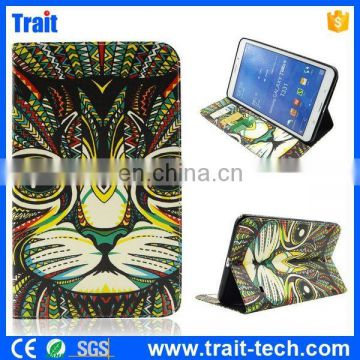 Tribal Wallet Style Flip Stand PU Leather Tablet Case for Samsung Tab 4 8.0 T330