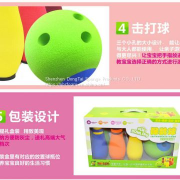 Kids NBR+EVA+PU Foam Bowling Set Soft Colorful Eco-friendly