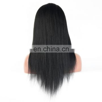 Overnight shipping 100% INDIAN human virgin hair full lace wig in yaki straight style cuticle aligned hair