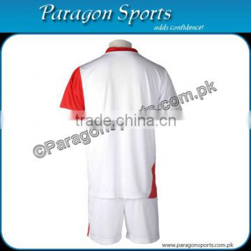 Red and White Soccer Uniform (Back Side)