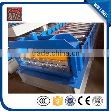 Superior Quality Colored grazed steel roof Tile hydraulic rolling shutter door roll forming machine
