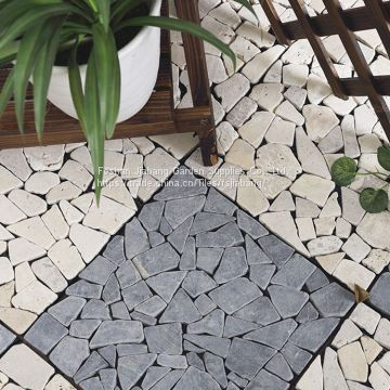 30x30cm Outdoor Waterproof Natural Travertine Stone Deck Flooring Tiles For Garden By China Manufacturer Of Decking Tile From