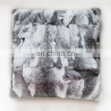 Wholesale Customed Rabbit Fur Cushion Covers Decorative Pillowcase
