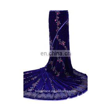 High quality African velvet lace Nigeria laces wholesale