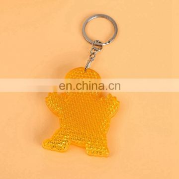 High quality Custom Shape Reflection keychain ring for wholesale