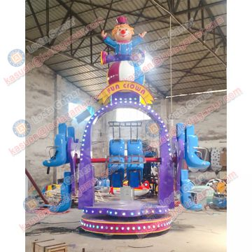Zhongshan amusement theme park equipment swing rides rotation 10 seat Happy Clown game machine earn money, kiddie rides