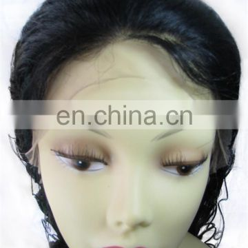 2016 Factory Price Wholesale Cheap Full Lace Wig With Bangs 100% Unprocessed Wholesale Cheap Brazilian Human Hair Full