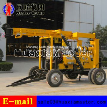 XYX-3 600 meters Wheeled easy to move hydraulic core drilling rig with high efficiency