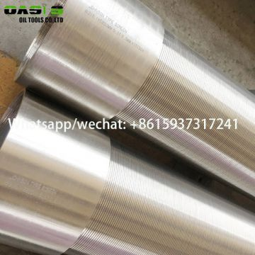 China Manufacturer of Stainless Steel Wire Wrapped Continuous Slot Water Well Screens