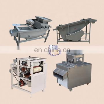 almond sheller peanut wet peeling machine almond slicer