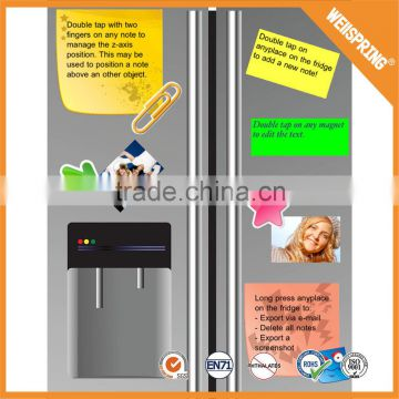 Free sample customized magnetic note pad