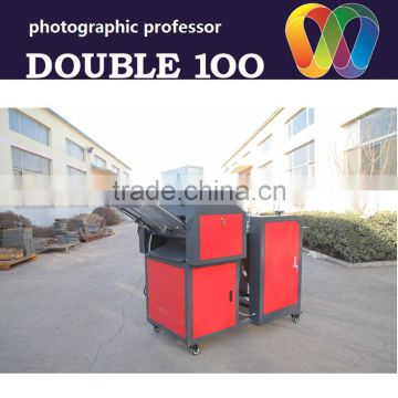 2016 new automatic double100 paper creasing and folding machine