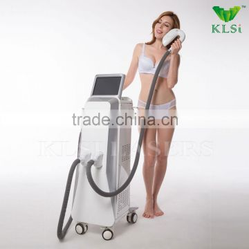 High power ipl hair removal machine/double system ipl shr laser elight hair removal machine