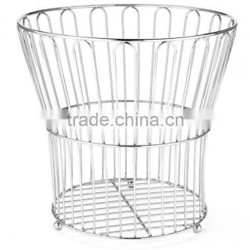 HIGH QUALITY Muti-function hotel waste basket, metal with chrome plate
