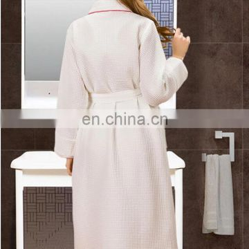 Wholesale 100% cotton luxury waffle hotel bathrobe