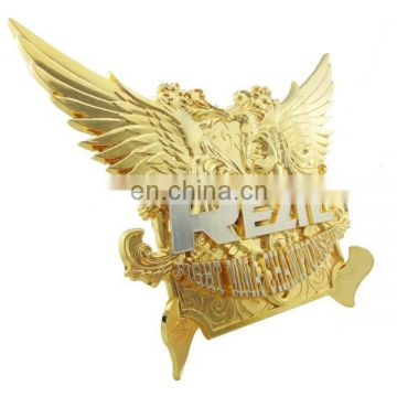 custom zinc alloy fantasy design eagle shape metal plate with letter