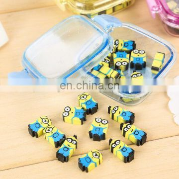 Transparent box packing Minions erasers Minions cartoon erasers