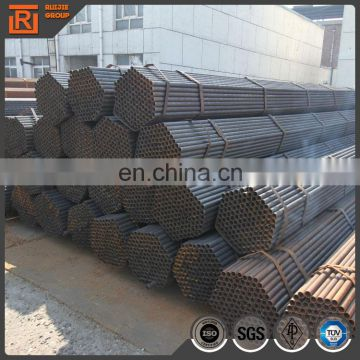 ERW black carbon annealing round steel pipe diameter 25mm thickness 1.5mm price per piece