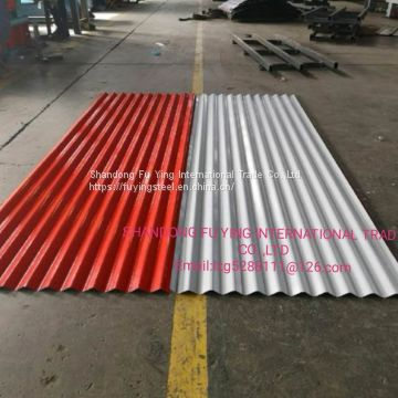 BWG28 GL corrugated  steel    sheet