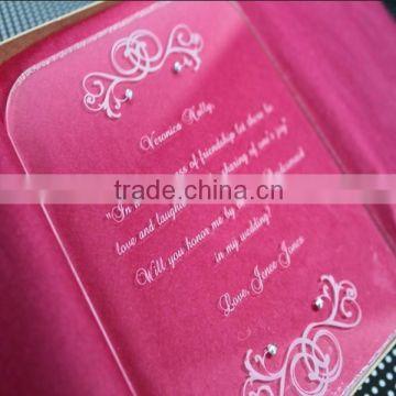 High Transparent Acrylic Chinese Wedding Invitation Card